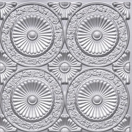 235 Silver Faux Tin Ceiling Tile