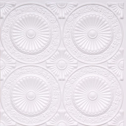 235 White Pearl Faux Tin Ceiling Tile
