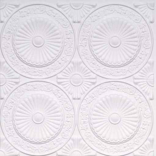 235 White Matte Faux Tin Ceiling Tile