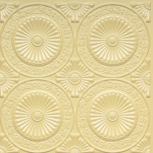 235 Cream Pearl Faux Tin Ceiling Tile