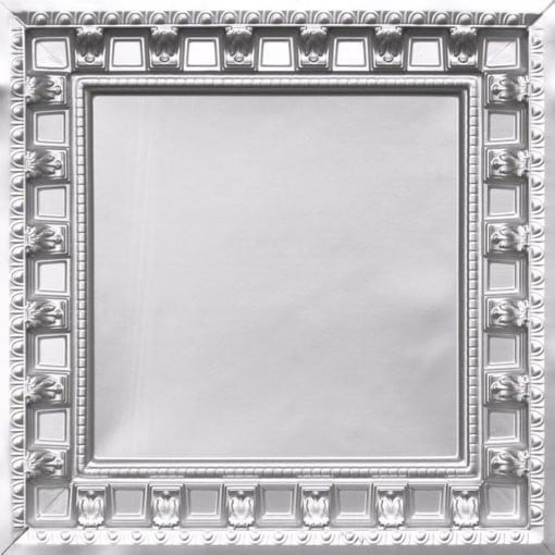 236 Silver Faux Tin Ceiling Tile - coffered