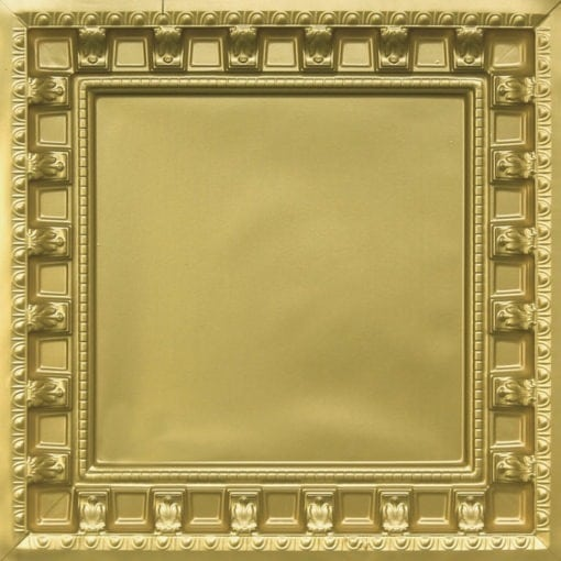 236 Brass Faux Tin Ceiling Tile - coffered
