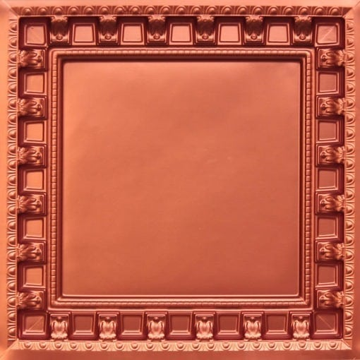236 Copper Faux Tin Ceiling Tile - coffered