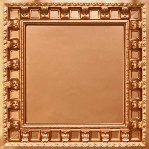 236 Gold Faux Tin Ceiling Tile - coffered