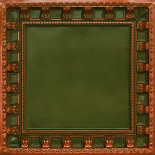 236 Patina Copper Faux Tin Ceiling Tile - coffered