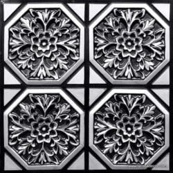 108 Antique Silver Faux Tin Ceiling Tile