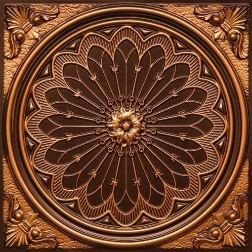 238 Antique Gold Faux Tin Ceiling Tile