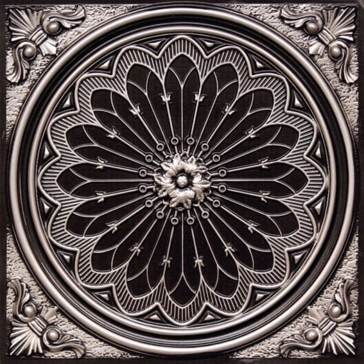 238 Antique Silver Faux Tin Ceiling Tile