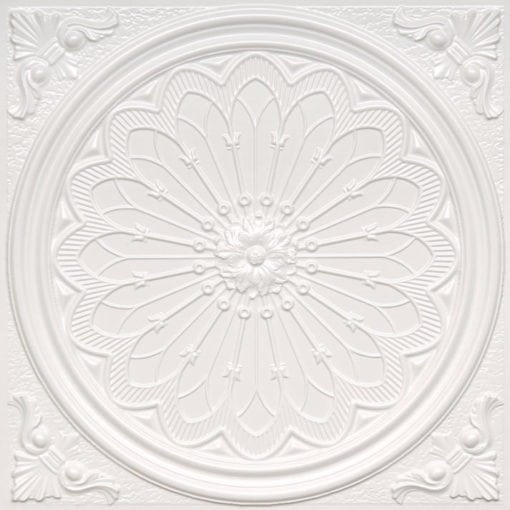 238 White Pearl Faux Tin Ceiling Tile