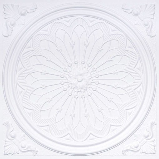 238 White Matte Faux Tin Ceiling Tile