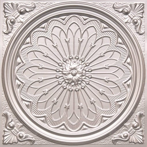 238 Silver Faux Tin Ceiling Tile