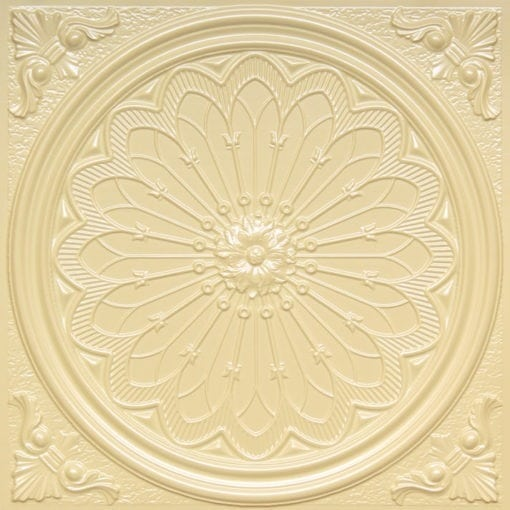 238 Cream Pearl Faux Tin Ceiling Tile