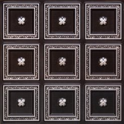 239 Antique Silver Faux Tin Ceiling Tile