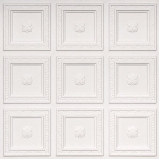 239 White Matte Faux Tin Ceiling Tile