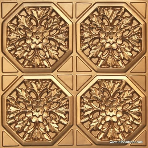 108 Gold Faux Tin Ceiling Tile