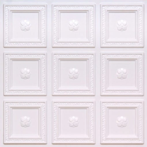 239 White Pearl Faux Tin Ceiling Tile