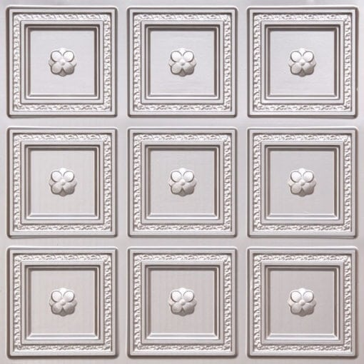 239 Silver Faux Tin Ceiling Tile