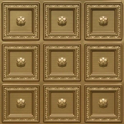 239 Brass Faux Tin Ceiling Tile