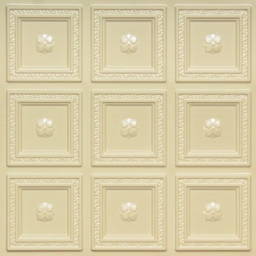 239 Cream Pearl Faux Tin Ceiling Tile