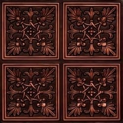 401 Antique Copper Faux Tin Ceiling Tile