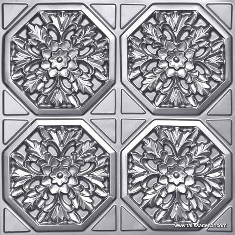 108 Silver Faux Tin Ceiling Tile