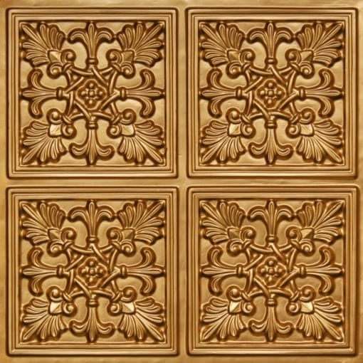 401 Gold Faux Tin Ceiling Tile