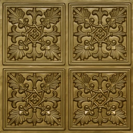401 Brass Faux Tin Ceiling Tile