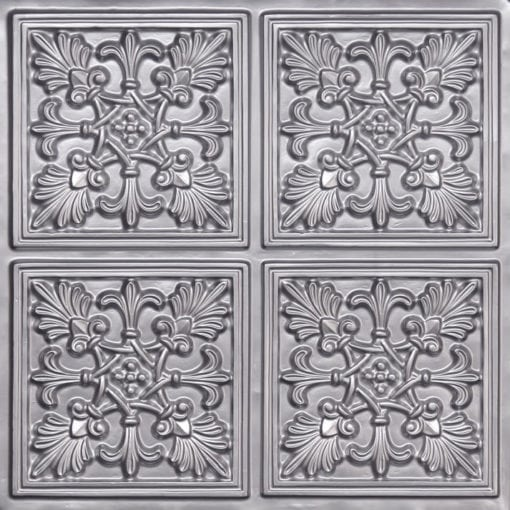 401 Silver Faux Tin Ceiling Tile