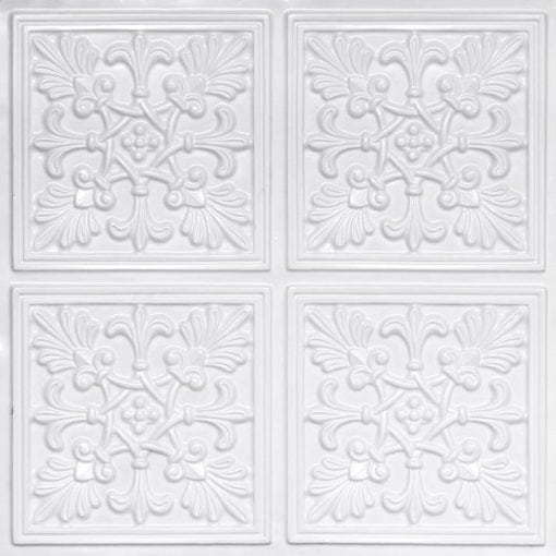 401 White Pearl Faux Tin Ceiling Tile