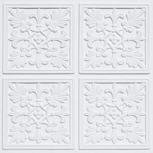 401 White Matte Faux Tin Ceiling Tile