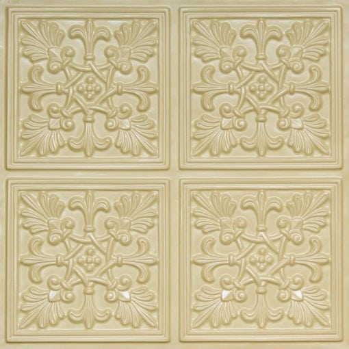 401 Cream Pearl Faux Tin Ceiling Tile