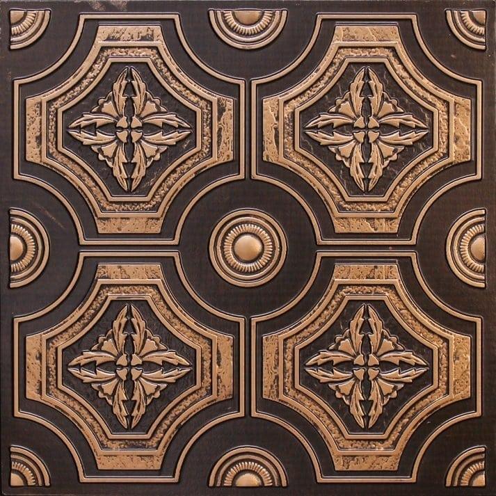 227 Antique Gold Faux Tin Ceiling Tile