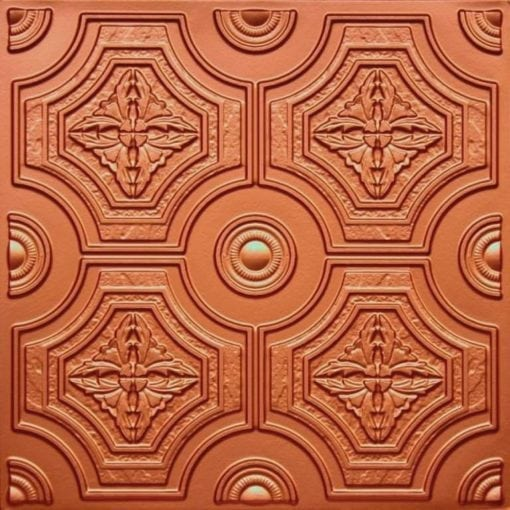 227 Copper Faux Tin Ceiling Tile