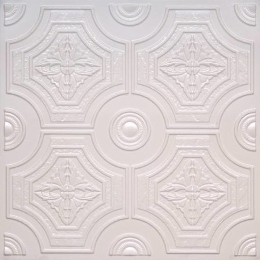 227 White Pearl Faux Tin Ceiling Tile