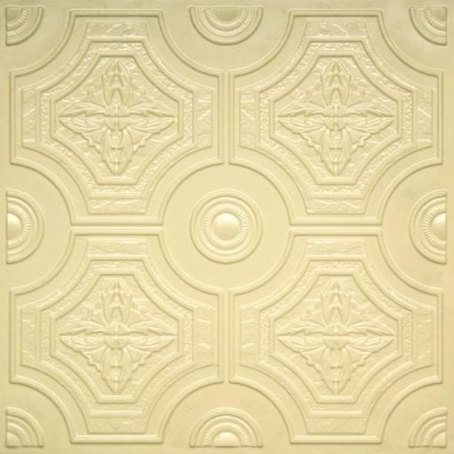227 Cream Pearl Faux Tin Ceiling Tile