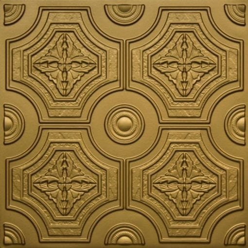 227 Brass Faux Tin Ceiling Tile