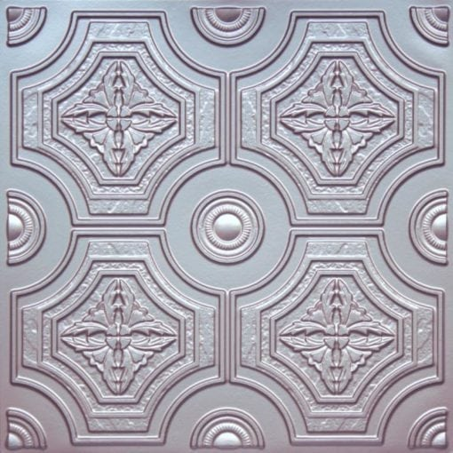 227 Silver Faux Tin Ceiling Tile