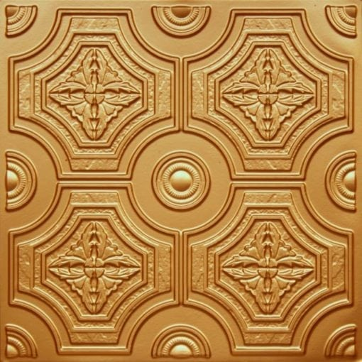 227 Gold Faux Tin Ceiling Tile