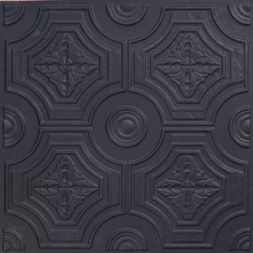 227 Black Matte Faux Tin Ceiling Tile