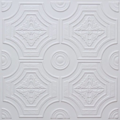 227 White Matte Faux Tin Ceiling Tile