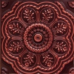 240 Antique Copper Faux Tin Ceiling Tile