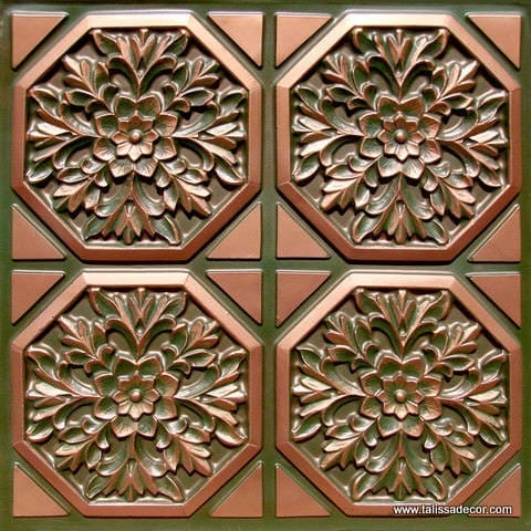 108 Patina Copper Faux Tin Ceiling Tile