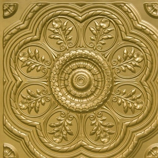 240 Brass Faux Tin Ceiling Tile