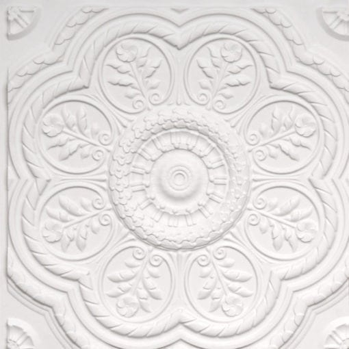 240 White Matte Faux Tin Ceiling Tile