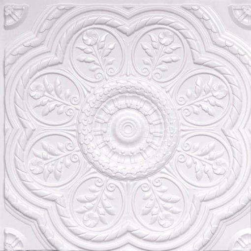 240 White Pearl Faux Tin Ceiling Tile