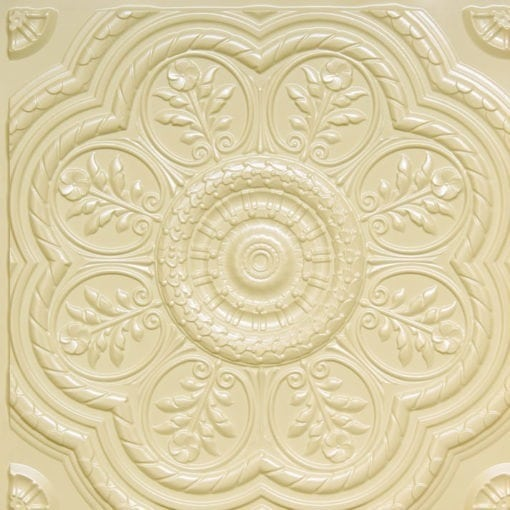 240 Cream Pearl Faux Tin Ceiling Tile