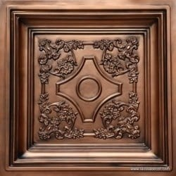 TD03 Aged Copper Faux Tin Ceiling Tile - Talissa Signature Collection