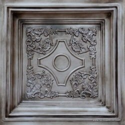 TD03 Antique White Faux Tin Ceiling Tile - Talissa Signature Collection