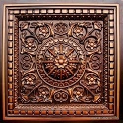 215 Antique Copper Faux Tin Coffered Ceiling Tile