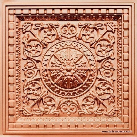 215 Copper Faux Tin Coffered Ceiling Tile
